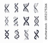 dna different icons set  a... | Shutterstock .eps vector #1052175266