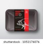 premium quality pork meat... | Shutterstock .eps vector #1052176076
