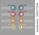 business infographic.vector... | Shutterstock .eps vector #1052177546