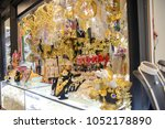 wide angle detail of a store... | Shutterstock . vector #1052178890