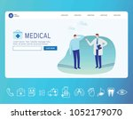 medical banner. healthcare... | Shutterstock .eps vector #1052179070