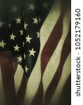 Small photo of vintage American flag for Memorial Day or Independence Day