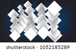 abstract white sheets of paper... | Shutterstock .eps vector #1052185289