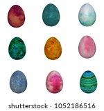 easter eggs 09 3d illustration | Shutterstock . vector #1052186516