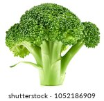 raw broccoli isolated on white... | Shutterstock . vector #1052186909