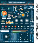 universe illustrated... | Shutterstock .eps vector #1052189150