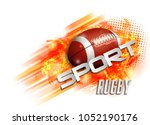 pattern design with rugby ball  ... | Shutterstock . vector #1052190176