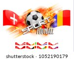 design football orange... | Shutterstock . vector #1052190179