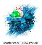 bowling  abstract background ... | Shutterstock . vector #1052190209