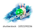 bowling  abstract background ... | Shutterstock . vector #1052190236