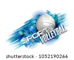 volleyball text on an abstract...   Shutterstock . vector #1052190266