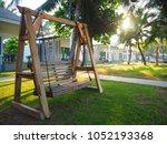 swing park tree | Shutterstock . vector #1052193368