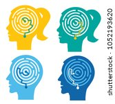 psychological test  labyrinth... | Shutterstock .eps vector #1052193620