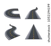 various types of asphalted...   Shutterstock .eps vector #1052194199