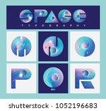 illustrated universe vector...   Shutterstock .eps vector #1052196683