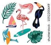 vector hand drawn set of... | Shutterstock .eps vector #1052200649