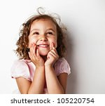 Happy Little Girl  In Studio