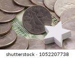 a quarter of rhode island ... | Shutterstock . vector #1052207738