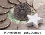 a quarter of georgia  quarters...   Shutterstock . vector #1052208896