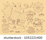 vector collage of stories about ... | Shutterstock .eps vector #1052221400