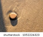 Smooth Pebble Rock On Beach...