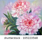 Peonies  Oil Painting On Canvas