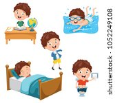 vector illustration of kids... | Shutterstock .eps vector #1052249108