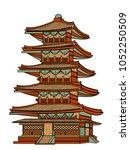 to ji temple of kyoto vector. | Shutterstock .eps vector #1052250509