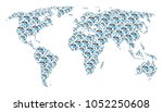 geographic map pattern designed ...   Shutterstock .eps vector #1052250608