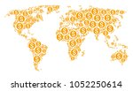 geographic map collage...   Shutterstock .eps vector #1052250614