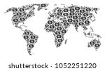 global map pattern created of...   Shutterstock .eps vector #1052251220