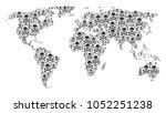 global world atlas composition...   Shutterstock .eps vector #1052251238