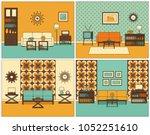 living room interior. vector.... | Shutterstock .eps vector #1052251610