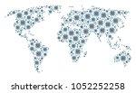 global geography atlas mosaic...   Shutterstock .eps vector #1052252258