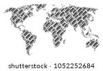 earth map pattern done of comb... | Shutterstock .eps vector #1052252684