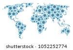 global atlas composition made...   Shutterstock .eps vector #1052252774