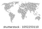 continental atlas composition...   Shutterstock .eps vector #1052253110