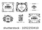 happy mother day background.  i ... | Shutterstock .eps vector #1052253410