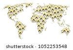 international atlas concept... | Shutterstock .eps vector #1052253548