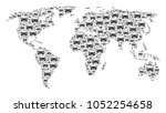 earth map concept composed of... | Shutterstock .eps vector #1052254658