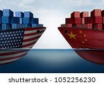china united states trade and... | Shutterstock . vector #1052256230