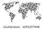 continental atlas composition... | Shutterstock .eps vector #1052257448
