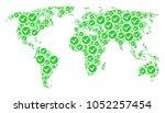 worldwide atlas mosaic composed ...   Shutterstock .eps vector #1052257454