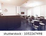 interior of modern hotel motel... | Shutterstock . vector #1052267498