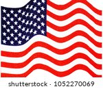 usa flag american flag us flag... | Shutterstock . vector #1052270069
