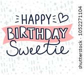 birthday greeting card design.... | Shutterstock .eps vector #1052271104