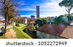 travel in italy  medieval lucca ... | Shutterstock . vector #1052272949