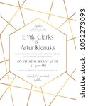 wedding invite  save the date...   Shutterstock .eps vector #1052273093