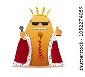 potato king character. comic... | Shutterstock .eps vector #1052274059
