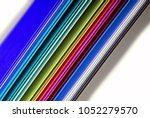 closeup of the multicolor paper | Shutterstock . vector #1052279570